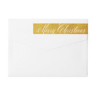 Festive Gold Christmas Skinny Wraparound Labels