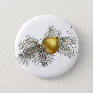 Festive Gold Decoration 2 Inch Round Button