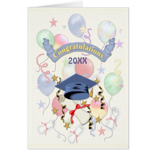 Festive Graduation Balloons Card