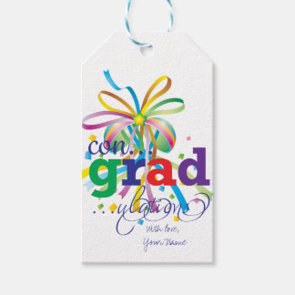 Festive Graduation Congratulations Gift Tag