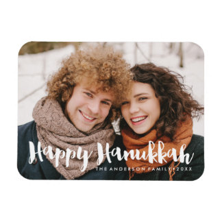 Festive Hanukkah | Holiday Photo Magnet