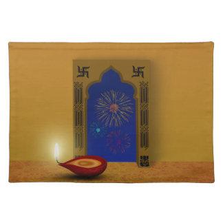 Festive Happy Diwali Fireworks - Cloth Placemat