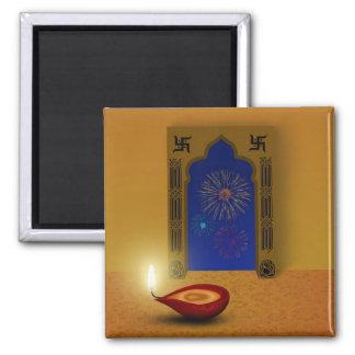 Festive Happy Diwali Fireworks - Magnet