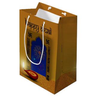 Festive Happy Diwali Fireworks - Medium Gift Bag