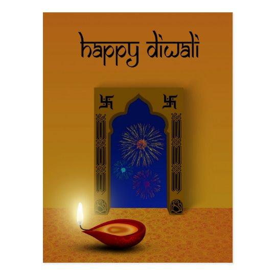 Festive Happy Diwali - Postcard