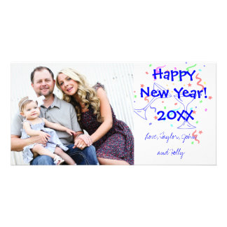 Festive Happy New Year Greeting Photo Card