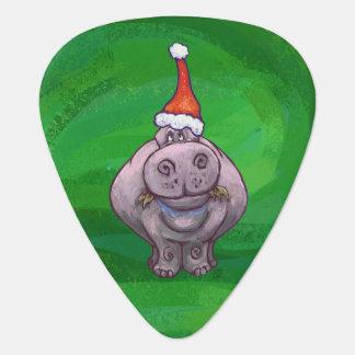 Festive Hippo On Green Pick
