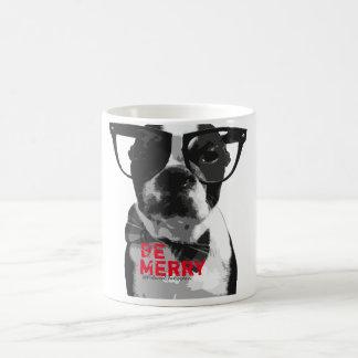 Festive Hipster Boston Terrier Mug!! Coffee Mug