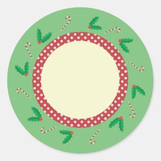 Festive Holiday Classic Round Sticker