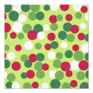 Festive Holiday Dots Invitations