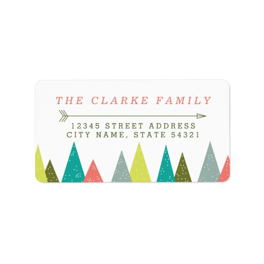 Festive Holiday Forest Address Labels
