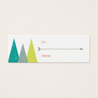 Festive Holiday Forest Gift Tags