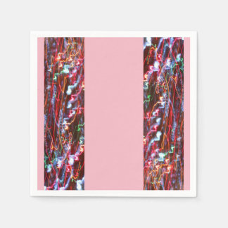 Festive Holiday Napkins - Tree Lights Run Amok Paper Napkins
