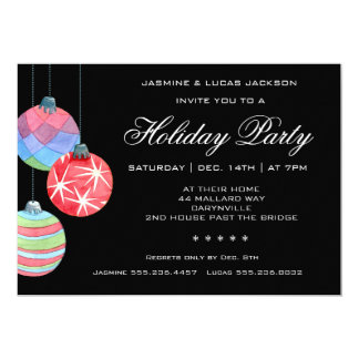 Festive Holiday or Christmas Party Invitation