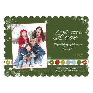 Festive Holiday Polka Dots Family Photo Card