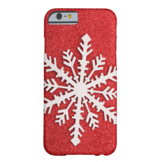 Festive Holiday Snow Barely There iPhone 6 Case