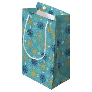 Festive Holiday Snowflakes Small Gift Bag