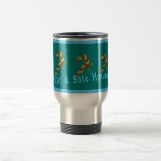 Festive Holiday Wishes Travel Mug