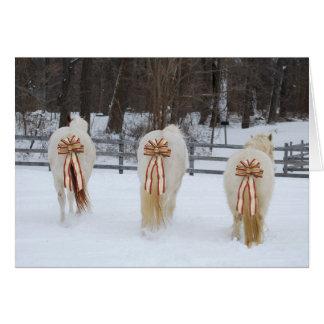 Festive Horses Holiday Card