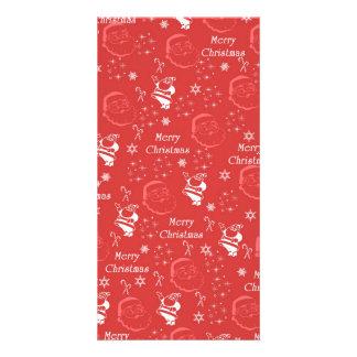 Festive Jolly Father Christmas Custom Photo Card