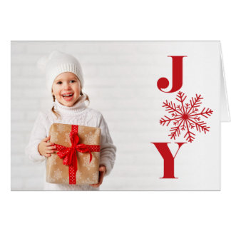 Festive Joy | Folded Holiday Photo Card