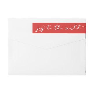 Festive Joy to the World Wrap Around Label