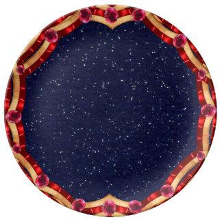 Festive July 4th Patriotic Star Plate CricketDiane Porcelain Plate