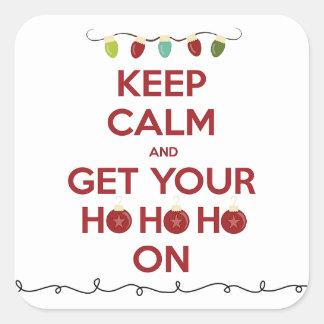 "Festive ""Keep Calm"" Holiday Stickers"