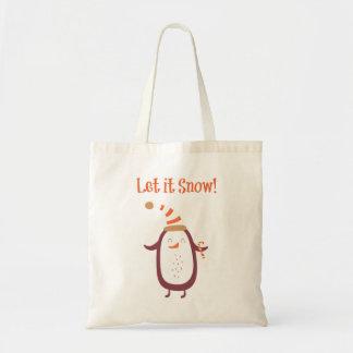 Festive Let It Snow Tote Bag