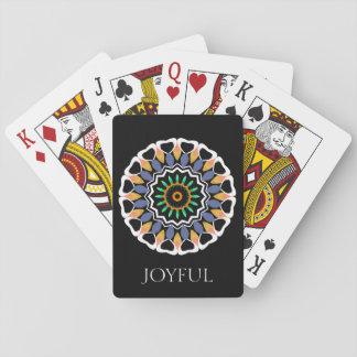 Festive Mandala Joyful Playing Cards