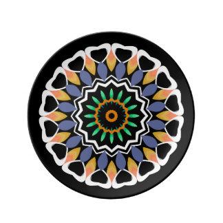 Festive Mandala Porcelain Plates