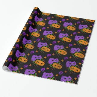 Festive Masquerade Masks Wrapping Paper