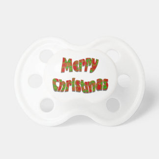 Festive Merry Christmas Design Baby Pacifiers