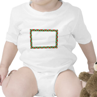 Festive New year frame  with red and green rombs Rompers