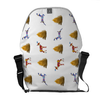 Festive New Year Medium Messenger  Bag Commuter Bag