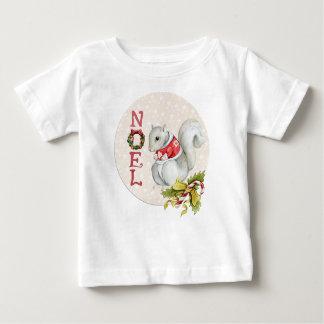 Festive Noel Squirrel Baby T-Shirt