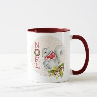 Festive Noel Squirrel Mug