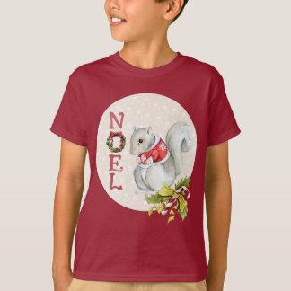 Festive Noel Squirrel T-Shirt