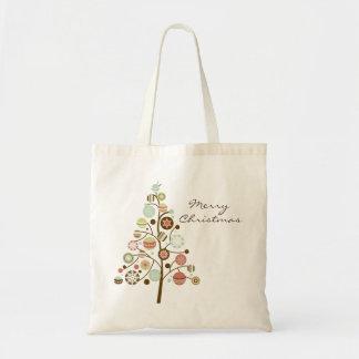 Festive Ornaments Tree Merry Christmas Tote Bag