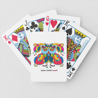 festive owl going to a party bicycle playing cards