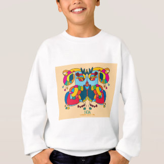 festive owl going to a party sweatshirt
