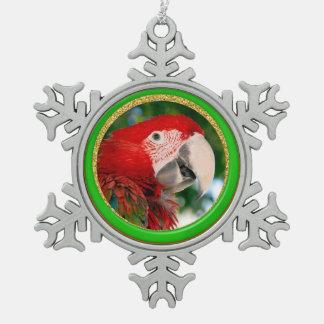 Festive Parrot Pet Photo Ornament