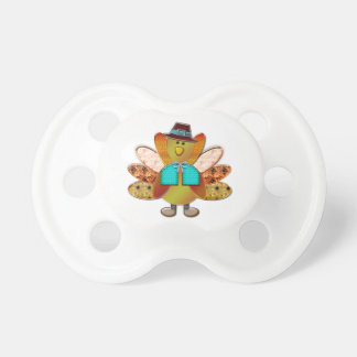 Festive Patterned Pilgrim Turkey Pacifier
