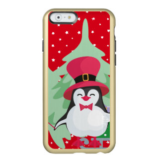 Festive Penguin with Sleigh Incipio Feather® Shine iPhone 6 Case