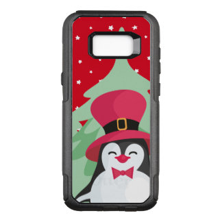 Festive Penguin with Sleigh OtterBox Commuter Samsung Galaxy S8+ Case