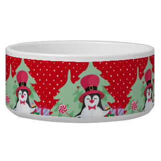 Festive Penguin with Sleigh - Red