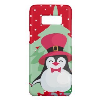 Festive Penguin with Sleigh - Red Case-Mate Samsung Galaxy S8 Case