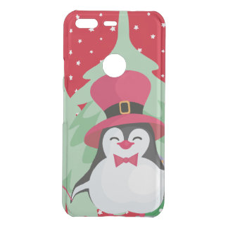 Festive Penguin with Sleigh - Red Uncommon Google Pixel Case