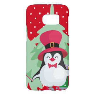 Festive Penguin with Sleigh Samsung Galaxy S7 Case