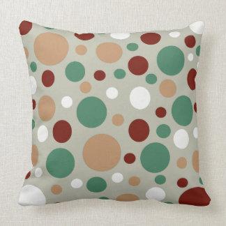 Festive Polka Dot Christmas Custom Throw Pillow